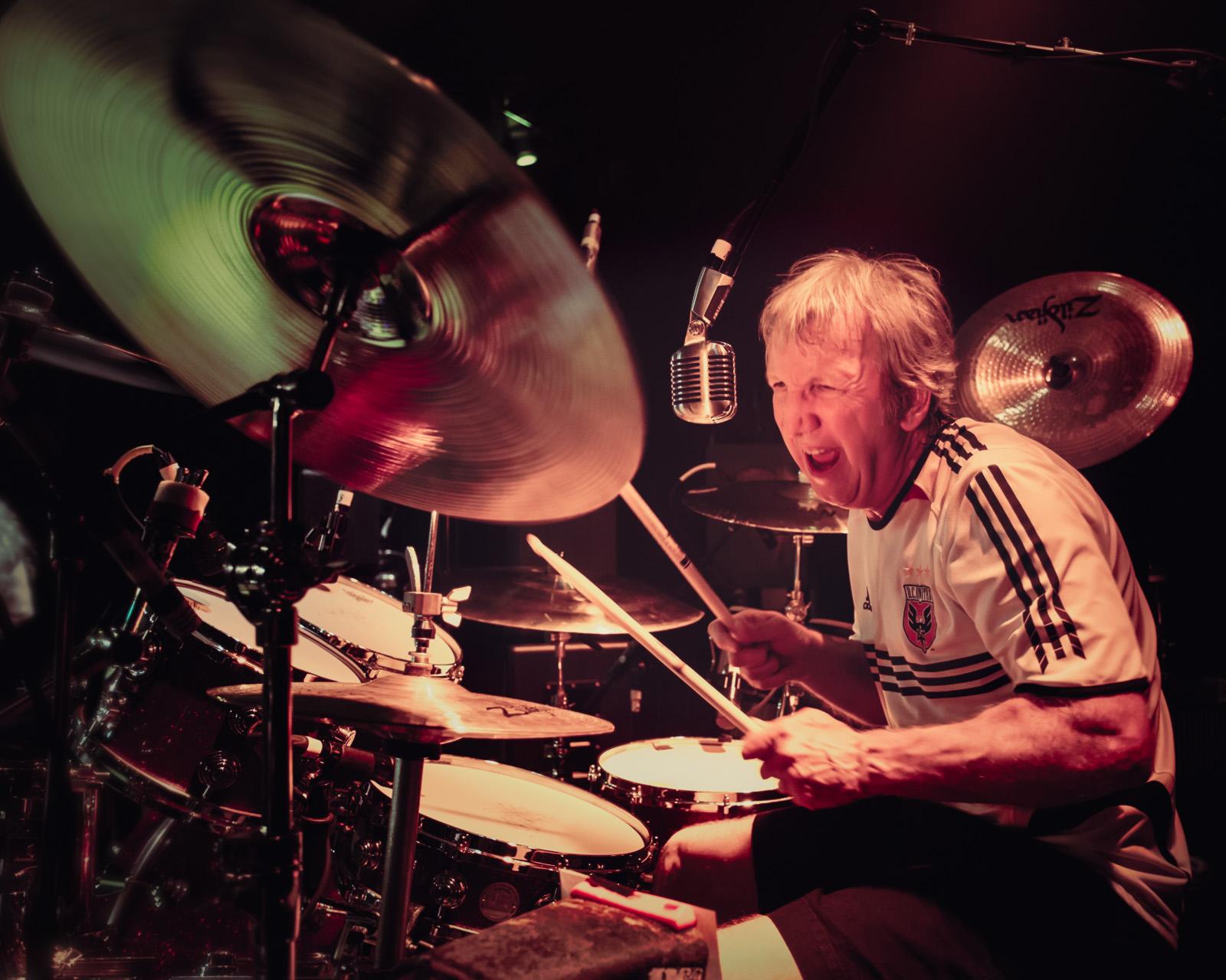 Driver Band drummer Howard Woodall